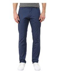 Calvin Klein | Blue Four-pocket Sateen Pants for Men | Lyst