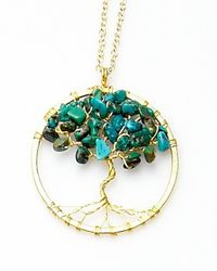 Nakamol - Multicolor Tree Of Life Pendant(small)-turquoise - Lyst
