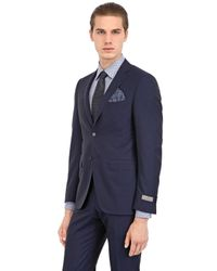 Canali - Blue Super 140'S Wool Pin Point Suit for Men - Lyst