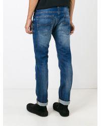 DIESEL - Blue 'thavar-ne 0674z' Skinny Jeans for Men - Lyst
