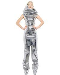 Gareth Pugh   Metallic Sleeveless Mirror Dress   Lyst