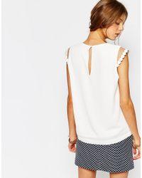 Suncoo - White Uncoo Leah Cap Sleeve Top In Cream - Lyst