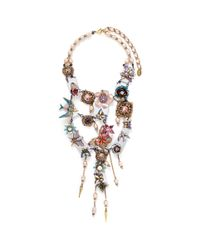 Erickson Beamon - Multicolor 'iron Butterfly' Pearlescent Appliqué Faux Pearl Plunge Necklace - Lyst