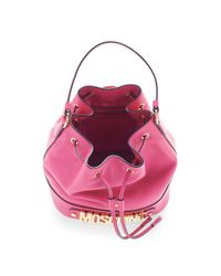 Moschino | Classic Leather Bucket Bag In Pink | Lyst