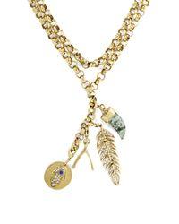 BCBGMAXAZRIA - Metallic Good Luck Charm Necklace - Lyst