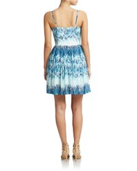 Guess | Blue Abstract Print A-line Dress | Lyst