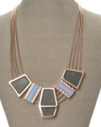 Rebecca Minkoff | Metallic Rose Gold-Tone Accented Necklace | Lyst