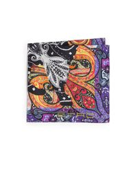 Etro - Multicolor Abstract Print Silk Scarf for Men - Lyst