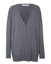 Dorothee Schumacher - Gray Ecstatic Ease Cardigan V-neck 1/1 - Lyst