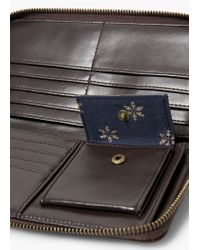 Mango - Brown Zip Pebbled Wallet for Men - Lyst