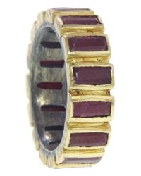 Nak Armstrong - Purple Ruby Baguette Mosaic Ring - Lyst