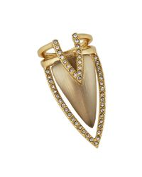 Alexis Bittar - Metallic Lucite & Crystal Double-triangle Statement Ring - Lyst