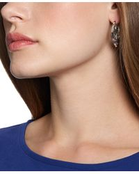 Brooks Brothers - Metallic Silver Filigree Hoops - Lyst