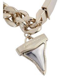 Givenchy - Metallic Gold Tone Shark Tooth Bracelet - Lyst