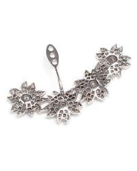 Yvonne Léon | White Diamond Flower Lobe Earring | Lyst
