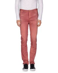 Scotch & Soda - Pink Casual Trouser for Men - Lyst