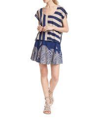 Plenty by Tracy Reese   Blue Striped Linen Tee   Lyst
