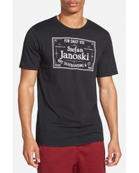 Nike | Black Sb 'df Janoski' Graphic Crewneck T-shirt for Men | Lyst