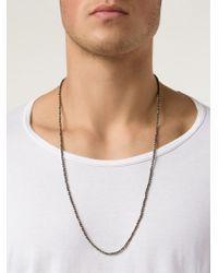 Joseph Brooks - Gray Pyrite Beaded Necklace for Men - Lyst