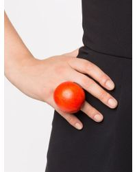 Monies | Red Large Round Ring | Lyst