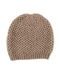 Black.co.uk - Nutmeg Brown Cashmere Beanie Hat - Lyst
