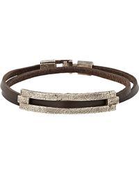 Zadeh | Brown Tamar Wrap Bracelet | Lyst