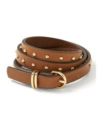 Banana Republic | Brown Triple-wrap Leather Bracelet | Lyst