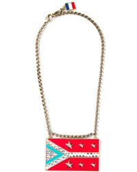 Lanvin - Red 'calvi' Flag Necklace - Lyst