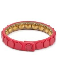Marc By Marc Jacobs - Pink Bolts Leather Bracelet - Lyst