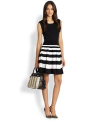 MILLY | Striped Knit Dress | Lyst