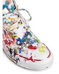 Rialto Jean Project - Multicolor One Of A Kind Hand-painted Splash High Top Sneakers - Sz 37 - Lyst