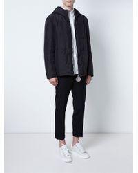 Raf Simons - Black Coin Zip Coat for Men - Lyst
