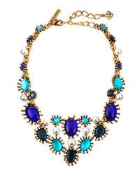 Oscar de la Renta | Multicolor Aqua Star Resin Bib Necklace | Lyst