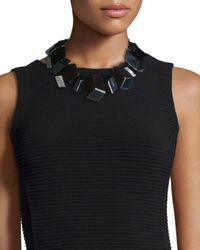 Lafayette 148 New York | Black Cube-link Beaded Necklace | Lyst