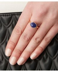 Monica Vinader | Metallic Rose Gold-plated Lapis Candy Ring | Lyst