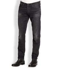 Ralph Lauren Black Label | Gray Rugged Moto Jeans for Men | Lyst