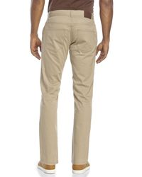Perry Ellis | Natural Slim Fit Straight Twill Pants for Men | Lyst