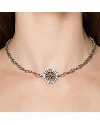Pamela Love | Metallic Small Wheel Necklace | Lyst