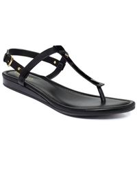Cole Haan | Black Boardwalk Thong Sandals | Lyst