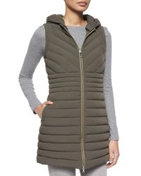 Peuterey - Green Cartier Miter Ribbed Long Vest - Lyst