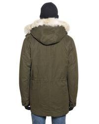 Woolrich - Green Eskimo Cotton Parka for Men - Lyst