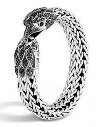 John Hardy | Metallic Men's Classic Chain Silver Eagle Head Flat Chain Bracelet for Men | Lyst