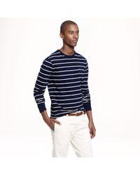 J.Crew - Blue Longsleeve Pocket Tee in Navy Stripe for Men - Lyst