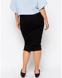 ASOS - Black Double Layer Pencil Skirt - Lyst