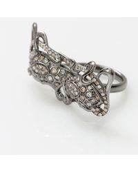 Bochic | Metallic Diamond Mask Ring | Lyst