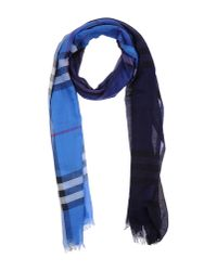 Burberry - Blue Stole - Lyst