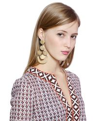 Tory Burch - Metallic Gold Plated Chandelier Earrings - Lyst