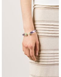 Alexis Bittar - Purple Pavé Tip Hinged Bangle - Lyst