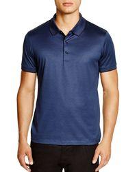 BOSS - Blue Boss Janis Fine Stripe Regular Fit Polo for Men - Lyst