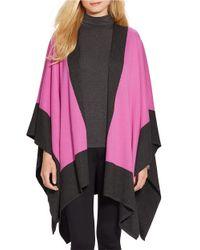 Lauren by Ralph Lauren | Pink Two-toned Poncho | Lyst